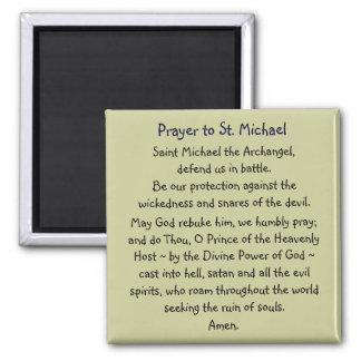 Prayer ~ St. Michael 2 Inch Square Magnet