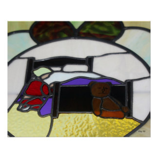 Prayer, Stained Glass Window Poster