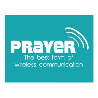 Prayer the Best Form of Communication Postcard