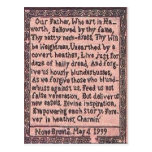 Prayer the Brontës' Father Taught Us Postcard