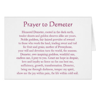 Prayer to Demeter Card