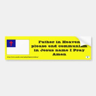 Prayer to end communism car bumper sticker