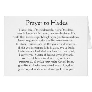 Prayer to Hades Card