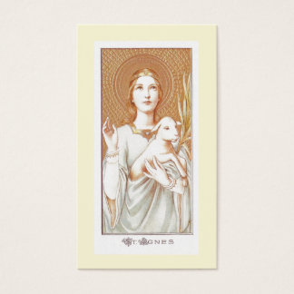Prayer to Saint Agnes Holy Card