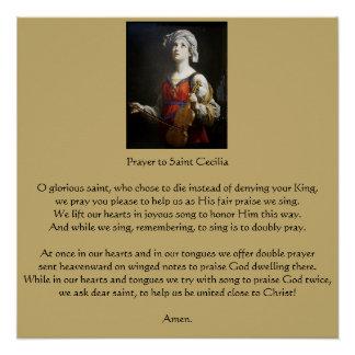 Prayer to Saint Cecilia Poster