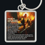 """Prayer to Saint Michael The Archangel Keychain<br><div class=""""desc"""">Hopefully this will make it&#39;s way into the hands of more than a few soldiers.</div>"""