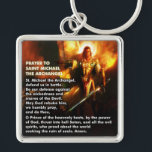 "Prayer to Saint Michael The Archangel Keychain<br><div class=""desc"">Hopefully this will make it&#39;s way into the hands of more than a few soldiers.</div>"