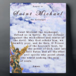 "Prayer to Saint Michael the Archangel Plaque<br><div class=""desc"">These plaques are of the highest quality.  I think,  by far,  these plaques are the best items sold.</div>"