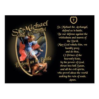 PRAYER TO SAINT MICHAEL THE ARCHANGEL POSTCARD
