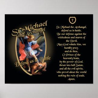 PRAYER TO SAINT MICHAEL THE ARCHANGEL POSTER