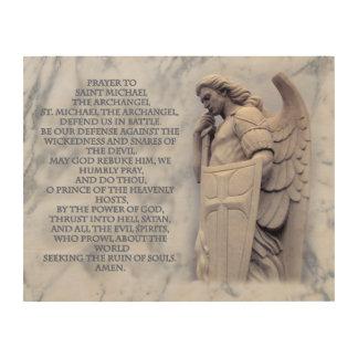 PRAYER TO SAINT MICHAEL THE ARCHANGEL WOOD WALL ART