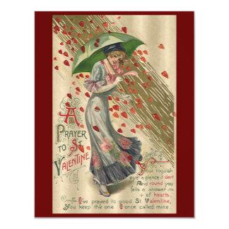Prayer to Saint Valentine, Vintage Victorian Lady Card