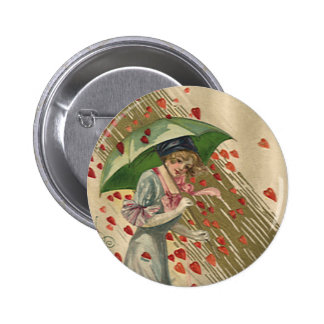 Prayer to Saint Valentine, Vintage Victorian Lady Pinback Button