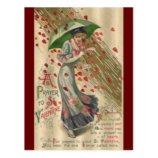 prayer to saint valentine vintage victorian lady postcard - Saint Valentine Prayer
