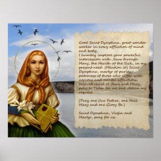 PRAYER TO ST DYMPHNA POSTER