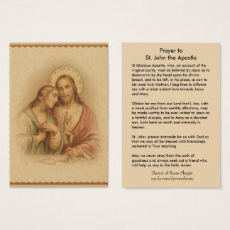 Prayer to St. John the Apostle of Jesus Holy Card