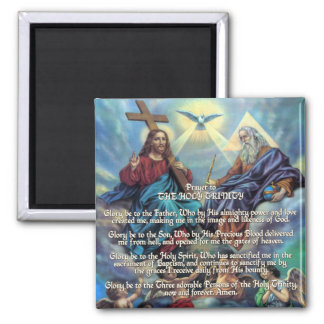 Prayer to THE HOLY TRINITY 2 Inch Square Magnet