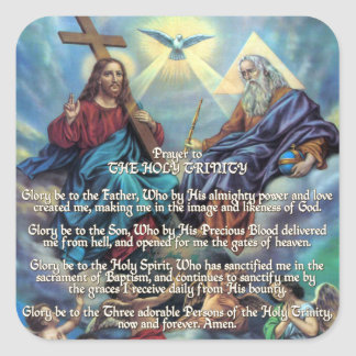 Prayer to THE HOLY TRINITY Square Sticker