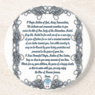 Prayer to the Miraculous Medal Drink Coaster