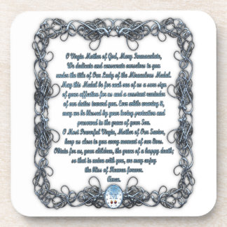 Prayer to the Miraculous Medal Beverage Coaster