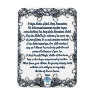 Prayer to the Miraculous Medal Rectangular Photo Magnet