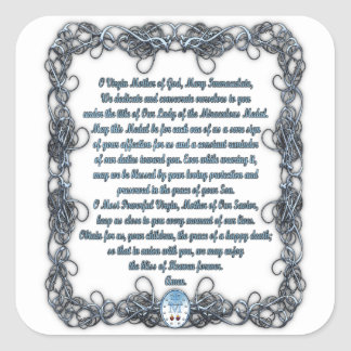 Prayer to the Miraculous Medal Sticker