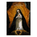 Prayer To The Sacred Heart Of JESUS Card