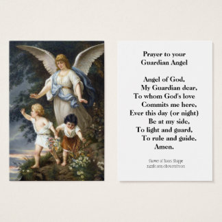 Prayer to Your Guardian Angel Holy Card