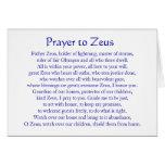 Prayer to Zeus Stationery Note Card