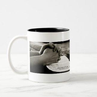 prayer Two-Tone coffee mug