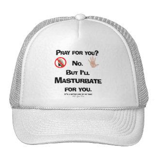 Prayer v Masturbation 2 Trucker Hat
