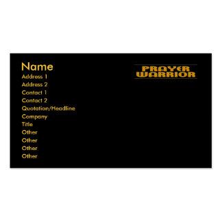 Prayer Warrior Business Card