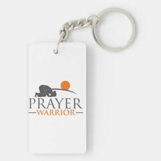 Prayer Warrior Double-Sided Rectangular Acrylic Keychain