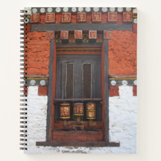 Prayer Wheels At Temple Notebook