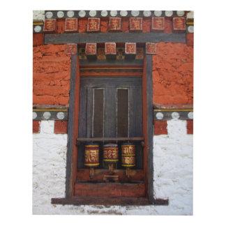 Prayer Wheels At Temple Panel Wall Art