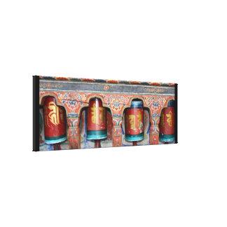 prayer wheels four canvas print