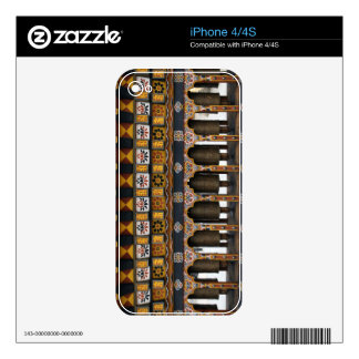 Prayer Wheels in a small public square Decal For iPhone 4S