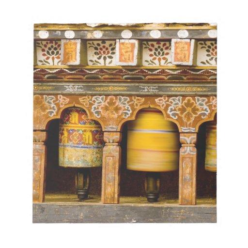 Prayer Wheels, Mani Wheel at Trongsa Dzong, Notepad