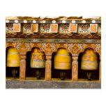 Prayer Wheels, Mani Wheel at Trongsa Dzong, Postcard