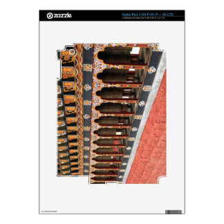 Prayer Wheels of the central square in Thimphu iPad 3 Skin