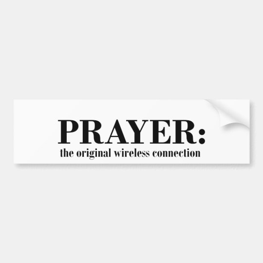 prayer_wireless_blk bumper sticker