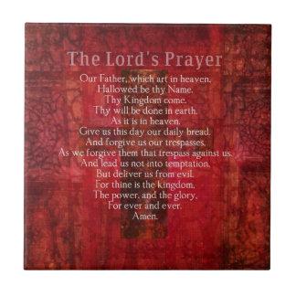 Prayer Words del señor tradicional Tejas Cerámicas