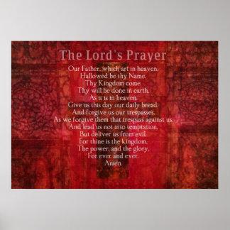 Prayer Words Religious Art del señor Póster
