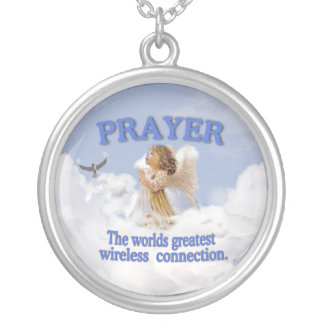 Prayer Worlds Greatest Wireless Connect #2 Silver Plated Necklace