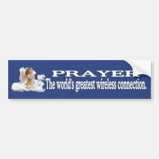 Prayer Worlds Greatest Wireless Connection #2 Car Bumper Sticker