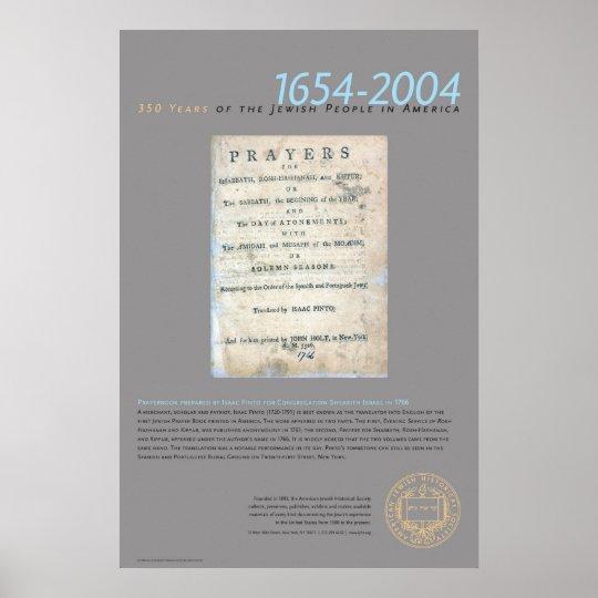Prayerbook Prepared By Isaac Pinto Poster