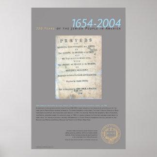 Prayerbook se preparó por el Pinto de Isaac Póster