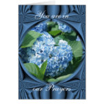 Prayers - blue hydrangea- customize any occasion cards