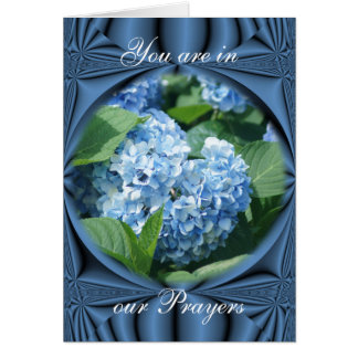 Prayers - blue hydrangea- customize any occasion greeting card