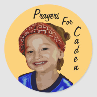 Prayers For Caden Classic Round Sticker